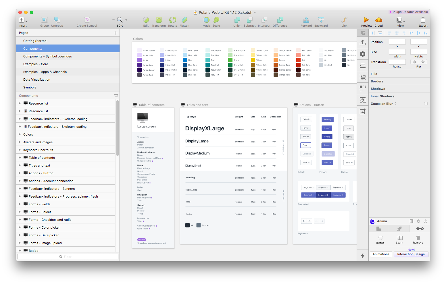 Shopify's Design System — Polaris (Design Library in a Sketch file)